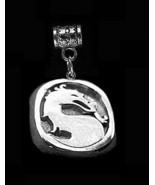 LOOK New Mortal Kombat Dragon solid Sterling Silver Charm european bead ... - $20.38