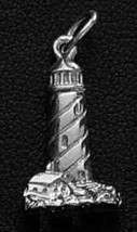 LOOK Sterling Silver .925 Light House Pendant Charm Jewelry - $14.54