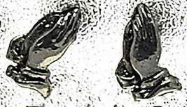 LOOK Jesus praying hand Sterling Silver Stud Earring Jewelry - $19.34