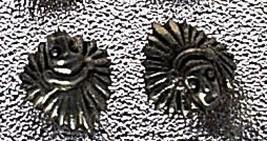 LOOK Tribal Chief spiritual Sterling Silver Stud Earrings - $17.48