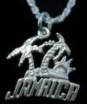 LOOK Sterling silver .925 Jamaica Sun Pendant Charm travel - $21.30