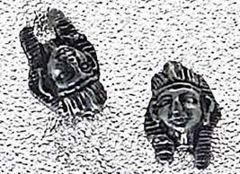 LOOK Pharaoh Egypt Sterling Silver Egyptian Stud Earrings - $19.34