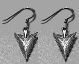 LOOK tribal American Arrow Head Sterling Silver 925 Dangle hook charm Ea... - $20.79