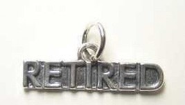LOOK Sterling Silver .925 Retired Reitrement pension gift Pendant Charm ... - $14.36