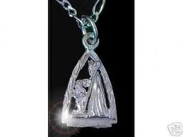 LOOK Saint Patrick pendant charm Silver Staff Jewelry - $13.04