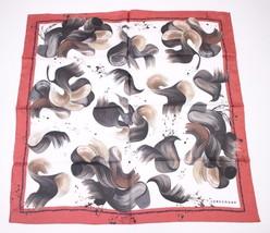 Longchamp Red Silk Paint Splash Scarf NEW - ₹3,476.66 INR