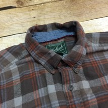 Woolrich Gray Orange Plaid Flannel Men's Medium 100% Cotton Casual Outdo... - $20.18