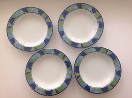 """FOUR (4) Mikasa Spring Gallery 8 3/4"""" Rimmed Soup Bowl -SL 109 Portugal - $19.79"""