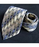 Vintage Carlos Devenezia Silk Neck Tie Barcelona Roma Classic French Geo... - $16.49