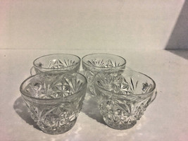 Luncheon Coffee Cups Tea Cup Teacup Clear Glass Libby? Vintage 1960-70's  - $14.84