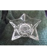 Star Shaped Clear Glass Candle Holder  for Votive or Tea Light-Vintage - $10.00