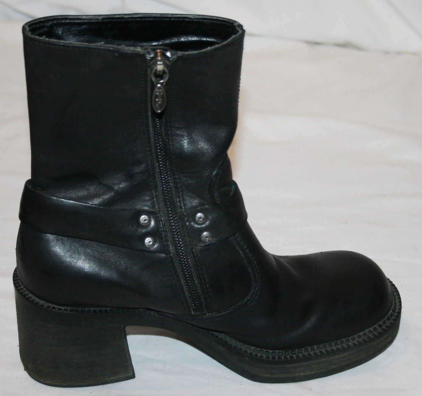 70bda3d0eb13 Harley Davidson Black Leather Ankle Boots and 32 similar items. 57
