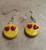 Cute Emoji Charm Earrings Clay Charms Kids Emoji Charm Wires - $6.00