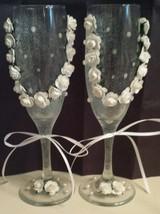 Beautiful Wedding Toasting Flutes Champagne Glass Wedding Gifts Glassware - $18.00