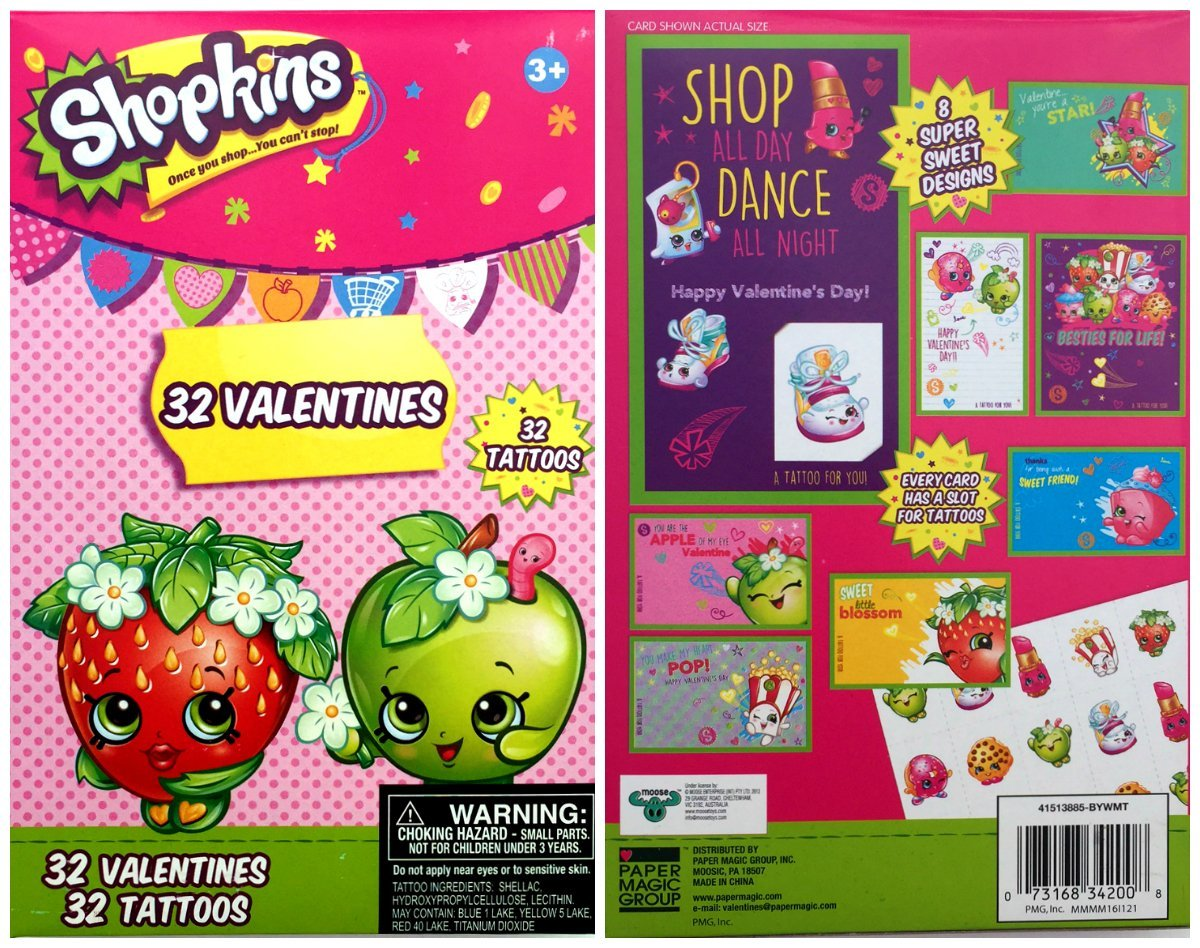 Shopkins 32 Valentine Day Cards With 32 And Similar Items