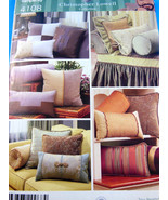 Simplicity 4108  Decorative Bolsters & pillows Christopher Lowell coll. ... - $5.04