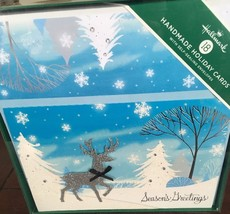 HALLMARK 18 Deluxe Holiday Cards Self Sealing Envelopes And Seals - $14.01