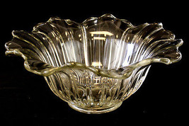 Vintage Ribbed Depression Glass Bowl - $8.91