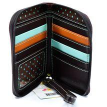 Chala Handbags Faux Leather Ivory Paw Print on Maroon Zip Around Wristlet Wallet image 3