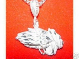 LOOK Silver Prayer Hand Pendant Charm Jesus cross Jewelry - $20.03