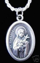 LOOK Saint Therese Liseux charm Jewelry Sterling silver .925 - $18.30