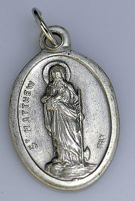 LOOK Saint St. Matthew the Apostle of Jesus Sterling Silver 925 Pendant Charm Je