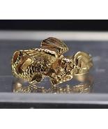 LOOK Gold plated asian Korean oriental japanese dragon ring - $20.29