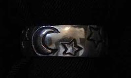 LOOK New Real Solid Sterling Silver .925 Moon Star and Sun Celtic ring Jewelry W - $22.95