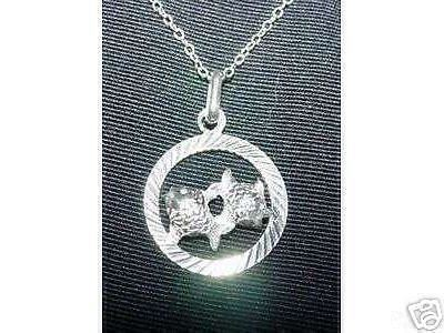 Primary image for LOOK Pisces  Astrology Pendant Charm Silver Jewelry Fish