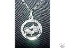 LOOK Pisces  Astrology Pendant Charm Silver Jewelry Fish - $12.42