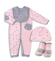 4-PIECE Baby Coverall Set - Just Like Mommy (0-3) - $14.99