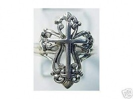 LOOK New Celtic Cross ring Sterling Silver 925 Jewelry Jesus - $22.95