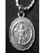 LOOK Hindu Lord God Hanuman OM Monkey Ape deity Sterling Silver Charm Pe... - $18.30