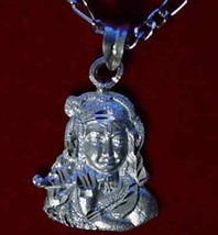LOOK Hindu Krishna OM Real Sterling Silver .925 Charm Pendant PROTECT Je... - $18.75