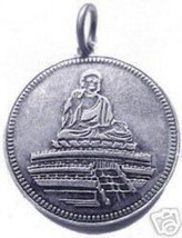 LOOK Good luck Buddah Temple Buddha Sterling silver Charm - $20.52