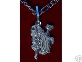 LOOK Hindu Lord Hanuman OM Silver Charm Pendant Jewelry - $18.30