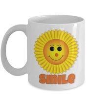 Sunny Smile Emoji 11 oz White Coffee or Tea Mug - $15.99