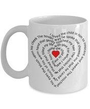 I Love The Child In Him Love Poem Heart 11 oz White Coffee or Tea Mug - $15.99
