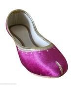 Women Shoes Indian Handmade Ballerinas Punjabi Pink Leather Mojaries US ... - $44.99