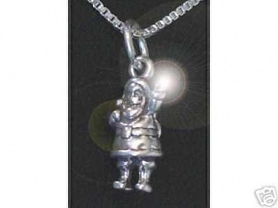 LOOK Silver Santa Clause Pendant Charm Christmas Jewelry