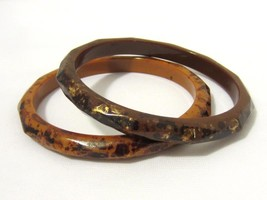 Retro vintage Pair Of Lucite Bangle Bracelets - $18.00