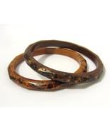 Retro vintage Pair Of Lucite Bangle Bracelets - $18.00
