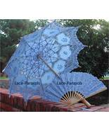Embroidered Lace Parasol Umbrella w/lace fan - $43.99