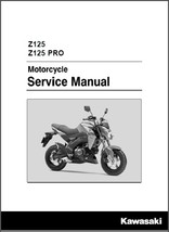 2016-2017 Kawasaki Z125 / Z 125 Pro Service Manual on a CD - $12.00