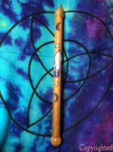 "Wicca Pagan Crystal Tip Wood Wand - Goddess, Celestial-Handmade OOAK 13.5"" - $39.00"