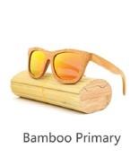 Red, Men/Woman Glass Bamboo Sunglasses Retro Vintage Wood Lens Handmade - $35.59