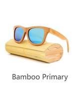 Blue, Men/Woman Glass Bamboo Sunglasses Retro Vintage Wood Lens Handmade - $35.59