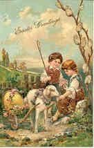 Easter Greetings Paul Finkenrath of Berlin Post Card - $7.00
