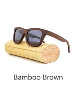 Gray II, Men/Woman Glass Bamboo Sunglasses Retro Vintage Wood Lens Handmade - $35.59