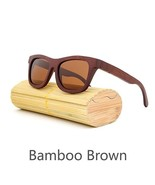 Brown II, Men/Woman Glass Bamboo Sunglasses Retro Vintage Wood Lens Hand... - $35.59